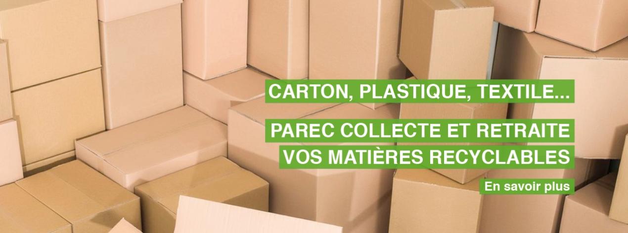 PAREC collecte et retraite vos matières recyclables